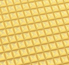 picture of pyramid shape  - Abstract background made of surface covered with golden square shaped pyramid blocks - JPG