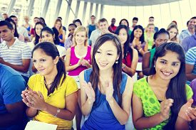 picture of applause  - Group People Casual Learning Lecture Applause Clapping Concept - JPG