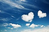 stock photo of clouds sky  - heart from cloud on sky - JPG