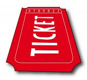 stock photo of memento  - admission ticket isolated  - JPG