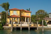 stock photo of beach-house  - More expensive houses from Miami in my portfolio - JPG