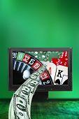 Постер, плакат: концепции для азартных игр онлайн виртуального казино