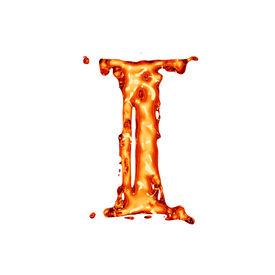 pic of alphabet letters  - Orange liquid alphabet  - JPG