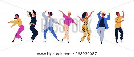 Group Of Young Happy Dancing