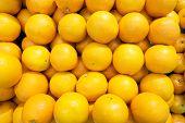 Fresh Many Orange  Fruit , Healthy Organic Oranges At The Market For Background . poster