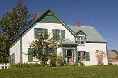 House in the National Park in Cavendish, Prince Edward Island that the author L. M. Montgomery used as a setting for her Anne of Green Gables novel. poster
