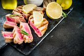 Grilled Tuna Fish Steaks poster