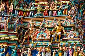pic of hindu temple  - Gopuram  - JPG