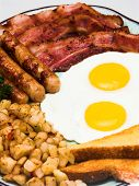 Complete Egg Breakfast (close Portrait View) poster