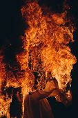 Burning, Fire At Street Performance, Burning Clothes poster