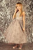Little Girl In Fashionable Dress, Prom. Child Girl In Stylish Glamour Dress, Elegance. Fashion Model poster