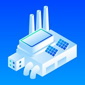 Solar Panel Smart Building Icon. Isometric Of Solar Panel Smart Building Vector Icon For Web Design  poster