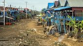 Poor Cambodian Poor Fishing Village On Tonle Sap, Cambodia poster