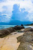 Rocky Seashore Beach poster