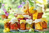 picture of pickled vegetables  - autumn preserves - JPG