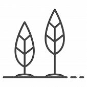 Grow Up Leaf Icon. Outline Grow Up Leaf Vector Icon For Web Design Isolated On White Background poster