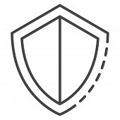 Secured Shield Icon. Outline Secured Shield Vector Icon For Web Design Isolated On White Background poster