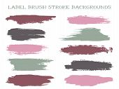 Scribble Label Brush Stroke Backgrounds, Paint Or Ink Smudges Vector For Tags And Stamps Design. Pai poster