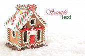 foto of ginger-bread  - Christmas gingerbread house - JPG