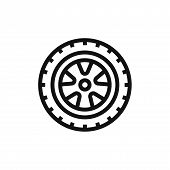 Car Wheel Icon Isolated On White Background. Car Wheel Icon In Trendy Design Style. Car Wheel Vector poster