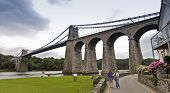A Pair Of Women At The Menai Suspension Bridge