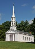 pic of martha  - Martha Mary Chapel a white clapboard New England church in Sudbury MA - JPG
