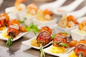 image of canapes  - tasty appetizer - JPG