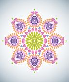 pic of kolam  - Diwali Kolam Patterns - JPG