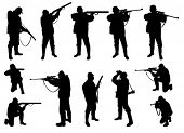 image of sniper  - hunters silhouettes collection - JPG