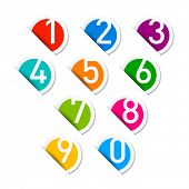foto of numbers counting  - Numbers set - JPG