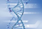 foto of double helix  - Image of DNA strand against colour background - JPG