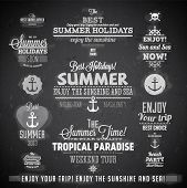 pic of bon voyage  - Retro elements for Summer calligraphic designs  - JPG