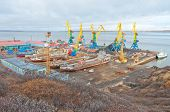 stock photo of chukotka  - Docks of Anadyr - JPG