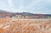 stock photo of chukotka  - Abandoned town in tundra - JPG