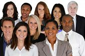 stock photo of black tie  - Business Team of Mixed Races at Office - JPG