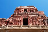 picture of krishna  - Detail of Krishna temple Hampi Karnataka state India - JPG