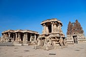 Picture of chariot, hampi, india.