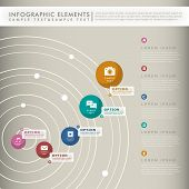 Abstract Concentric Tracks Infographics