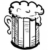 stock photo of drawing beer  - Beer in mug - JPG