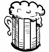image of drawing beer  - Beer in mug - JPG