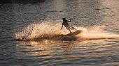 Wakeboarder on water