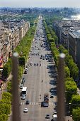 Champs Elysees In Paris, France.