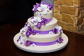 stock photo of icing  - Wedding cake - JPG