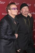 PALM SPRINGS - JAN 4:  Bono, The Edge at the Palm Springs Film Festival Gala at Palm Springs Convent