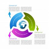 picture of summary  - Cycle diagram design isolated on white background - JPG