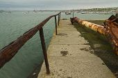 stock photo of anglesey  - Extremely corroded iron railing - JPG