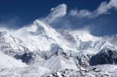 picture of cho-cho  - View of Cho Oyu mountain from Ngozumpa glacier - JPG