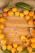 pic of loquat  - Still life with freshly picked loquats and homemade marmalade - JPG