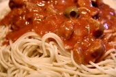 Spaghetti with sauce poster