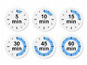 image of chronometer  - Set of time icons - JPG